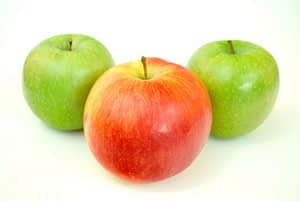 Three apples picture