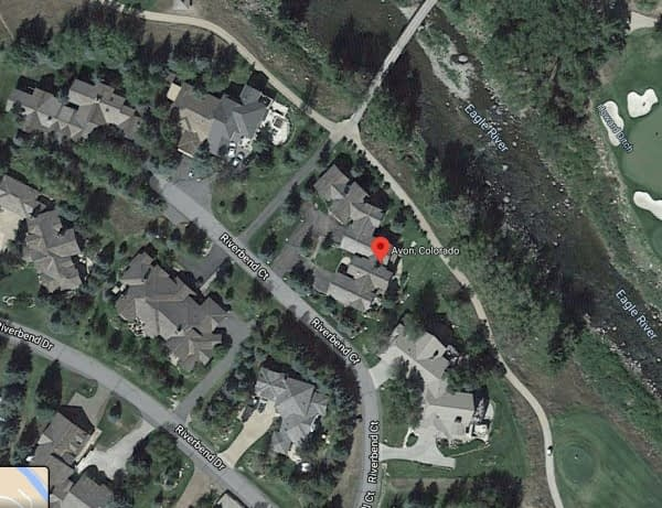 Google map satellite view of Avon, Colorado